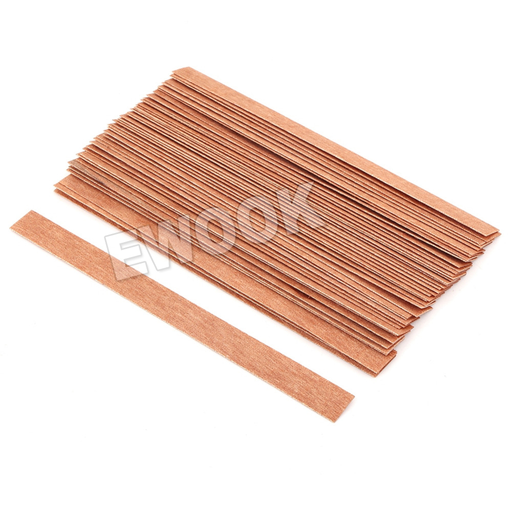 Wood Candle Wicks Diy: 50X Wooden Candle Wicks Core Supplies With Sustainer DIY