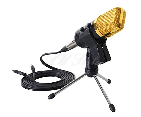 usb condenser microphone studio tripods stand audio broadcasting sound recording ebay. Black Bedroom Furniture Sets. Home Design Ideas