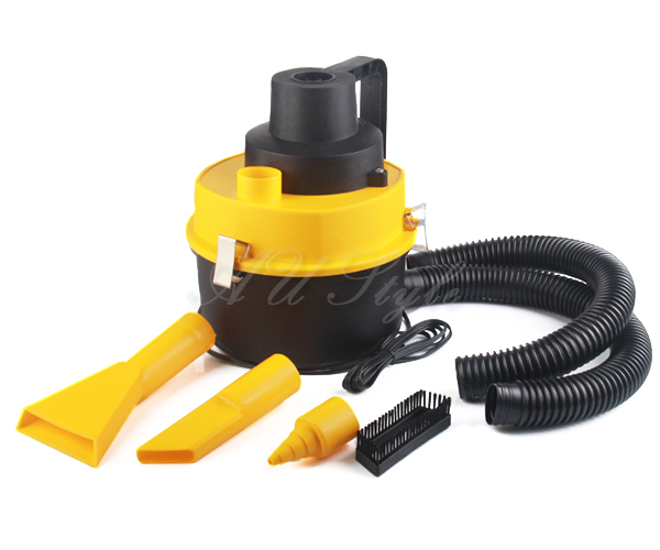 Portable Handheld Car Vacuum Cleaner 12V Vehicle Auto Dust Wet /& Dry Yellow