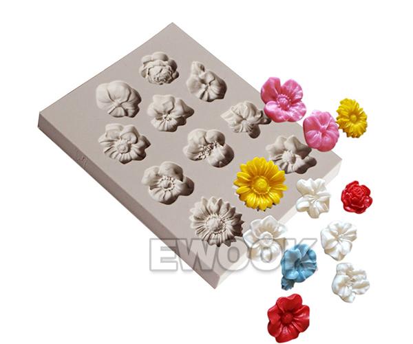 3d Silicone Fondant Mold Sugarcraft Flower Cake Decorating